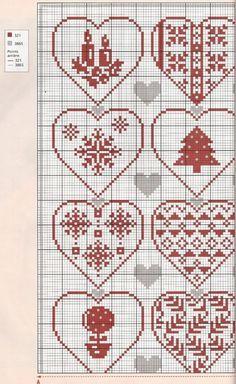 Points de croix *<3* Cross stitch Christmas is Love chart1