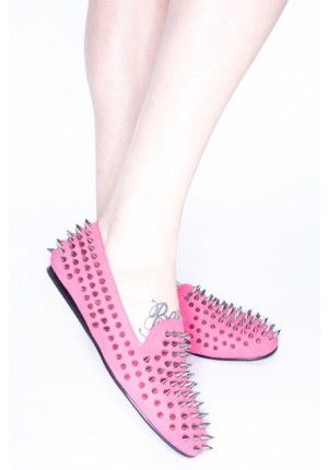snazziest pair of pink flats i've ever seen