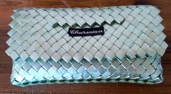 Charmian-delight.: CandyWrapper : Flettet grøn taske