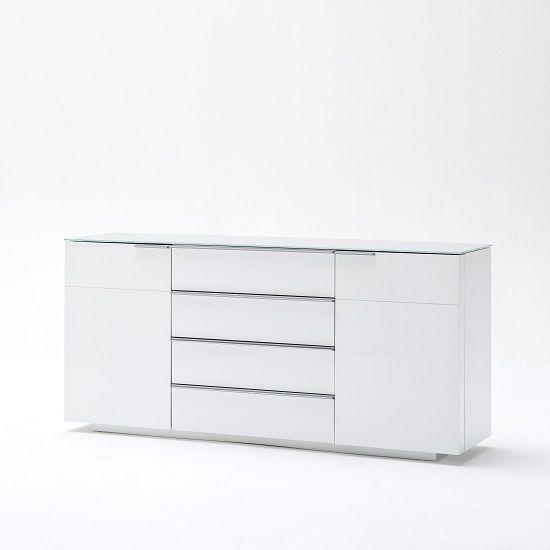 Canberra Sideboard In Glass Top And White High Gloss With 2 Door   Buy High  Gloss Sideboard, Furnitureinfashion UK | Sideboards | Pinterest | High  Gloss, ...