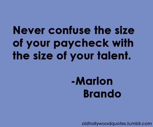 The size of your talent