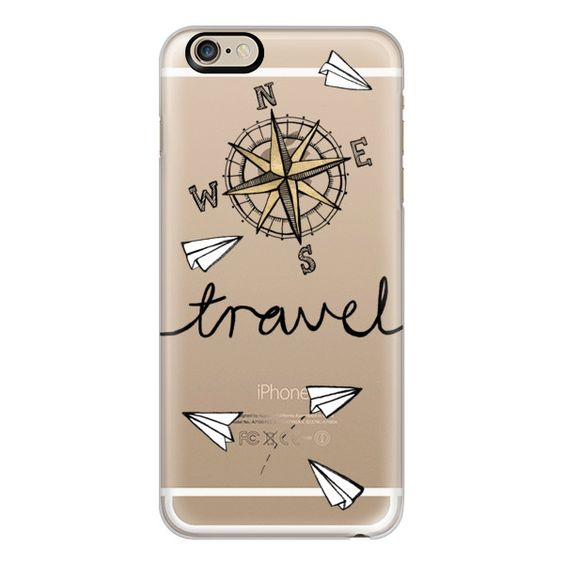 iPhone 6 Plus/6/5/5s/5c Case - Travel + Compass + Paper Planes on... (£26) ❤ liked on Polyvore