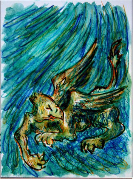 'Schlafender+Vogel+Greif+2'+von+funkyzoo+bei+artflakes.com+als+Poster+oder+Kunstdruck+$16.63