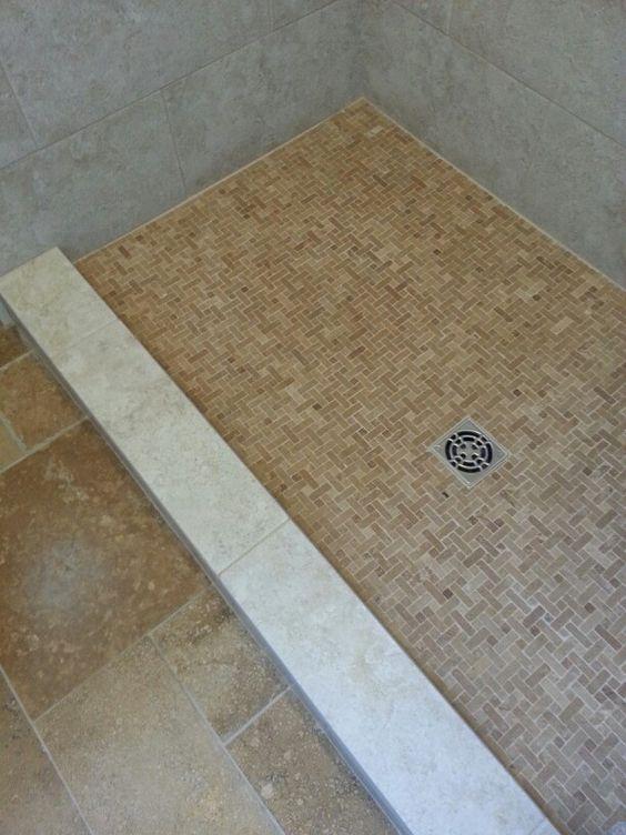 Tile bathroom pics - Gerrits Bathroom Pinterest Shower Floor Floors And Cap D Agde