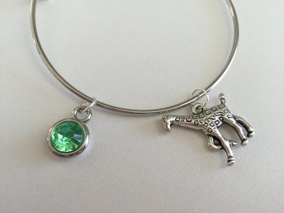 Alpha Epsilon Phi~ 3 Charm Stackable Bangle Bracelet by TheGoldArtichoke on Etsy