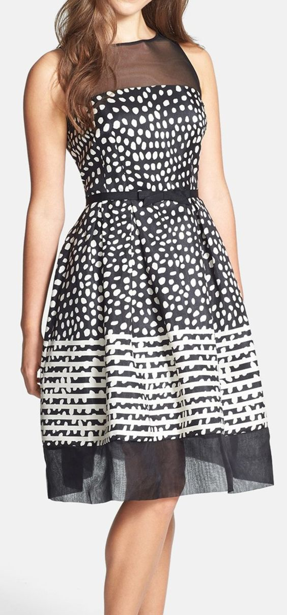 Dot swing dress:
