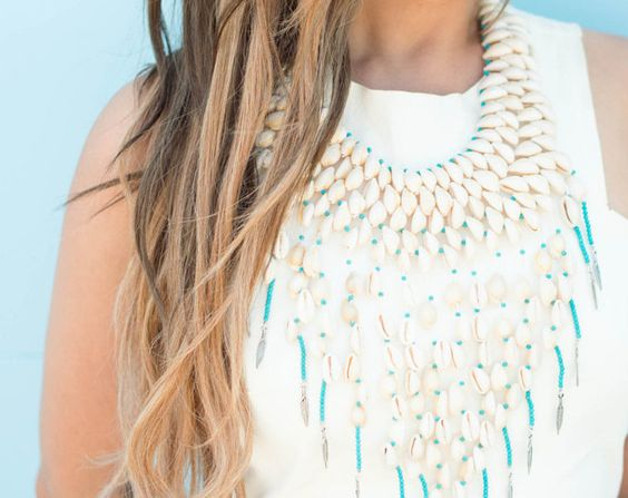 #ninique #onlinestore #boho #bohemian #gypsy #festival #fashion #australia #mermaid #clutch #necklace #water #pearls #statement #necklace #bone #turquoise #cowrie #shell