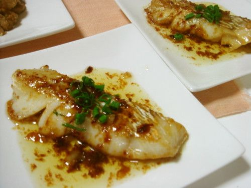 Pan Fried Cod With Butter Soy Sauce