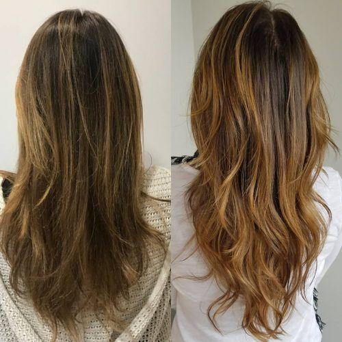Long V Shape Layers Womenshaircuts2018 In 2020 Long Layered Haircuts Long Thin Hair Long Layered Haircuts Straight