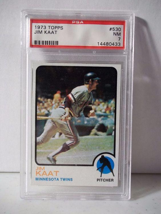 1973 Topps Jim Kaat PSA Graded NM 7 Baseball Card #530 MLB Collectible #MinnesotaTwins