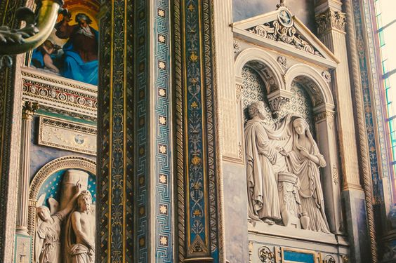 Saint Eustache in Paris has some of the most beautiful interiors, painted in…