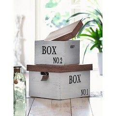 Aufbewahrungsbox mit Deckel, 2er Set