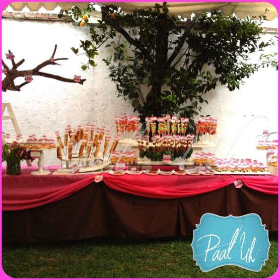 table party mesas chocolate candies baby showers candy bars showers