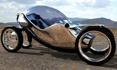 Futuristisches Elektro-Fahrrad Scarab
