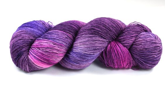 Lisa Frank Fantasy--hand dyed heavy lace/light sock weight yarn, superwash Merino(822ds/150gm)