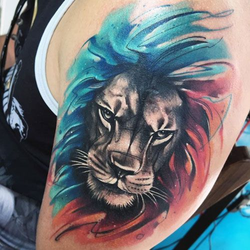 125 Best Lion Tattoos For Men Cool Designs Ideas 2020 Guide Mens Lion Tattoo Watercolor Lion Tattoo Lion Tattoo Sleeves