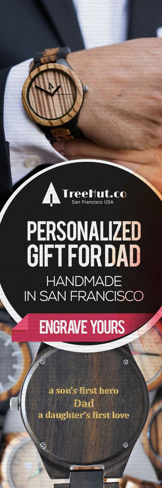 (Free US Express Shipping for our Father's Day Sale! Guaranteed US Arrival by Father's Day!) Handcrafted in San Francisco. Nature-inspired designs that make the perfect gift for your special ones! See the full collection at Tree Hut.