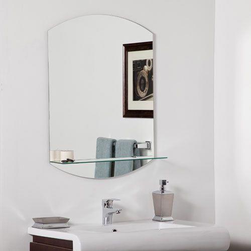 Vanessa Modern Bathroom Mirror Modernhomedecorbathroom Modern Bathroom Mirrors Modern Bathroom Bathroom Mirror With Shelf
