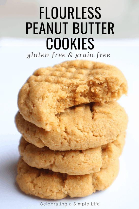 Flourless Peanut Butter Cookies