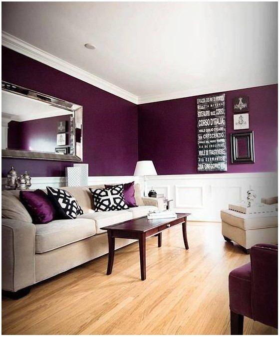 Purple Living Room Wall Paint Ide Warna Cat Ruang Tamu Cat Ruang Tamu Warna Ruang Tamu