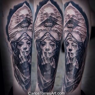 Carlos torres tattoo artist carlos torres pinterest for Black and grey tattoo artists near me