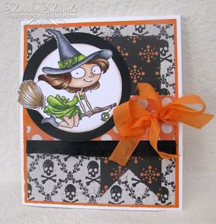 Loves Rubberstamps Design Team Member - Shanna Shands - Sensational Sunday Inspirations - Kraftin Kimmie Stamps Witchy Poo - chance to win blog candy every Sunday too!