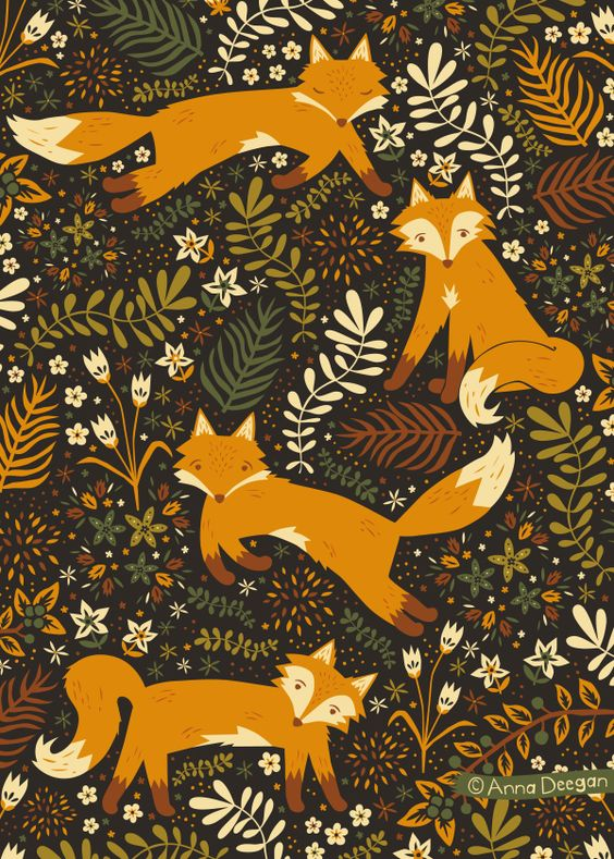 Collective Nouns Inspirational Work. Fox Tales by Anna Deegan, via Behance