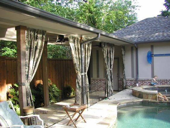 Curtains for the lanai add a cabana feel! | Pool & Lanai ...