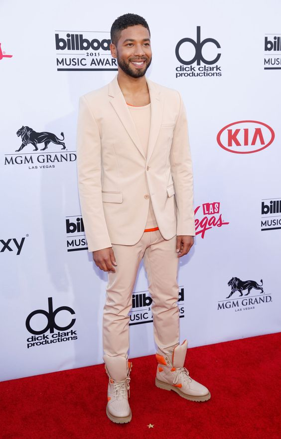 Jussie Smollett arrives at the 2015 Billboard Music Awards at the MGM Garden Arena in Las Vegas on May 17, 2015.