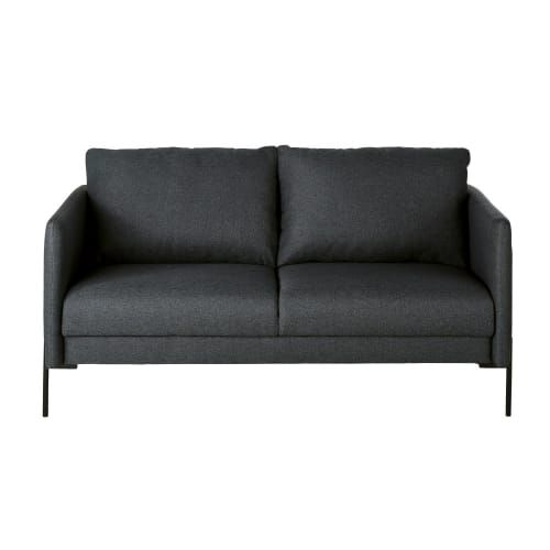 Canape 2 Places Gris Anthracite In 2020 Sofa Home Decor Furniture