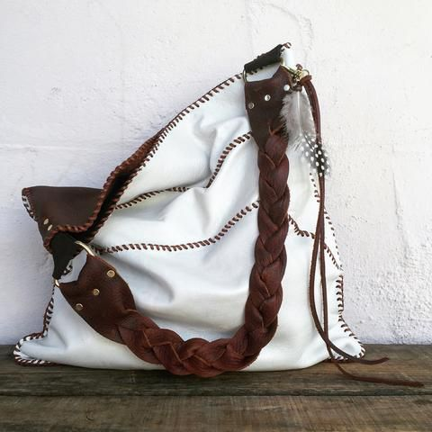 Deer Bucket Bags w//Genuine Leather Trim Large Front Personalized