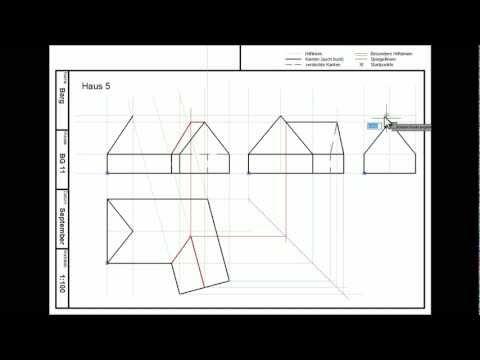 Onlinetutorial bg 11 technisches zeichnen haus 5 for Haus zeichnen 3d