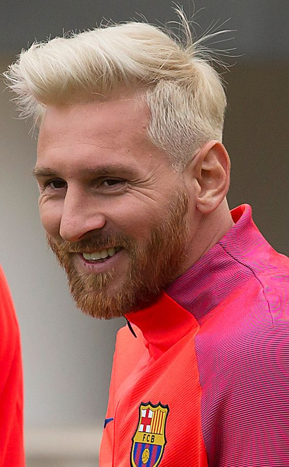 Lionel Messi Just Went Platinum Blond and the Internet Can't Deal