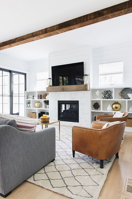 46 Family Rooms To Rock This Year Livingroom Fireplace Room Decor Farm House Living Room Modern Farmhouse Living Room Farmhouse Decor Living Room