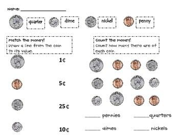 Printables Coin Value Worksheets coins student and the ojays on pinterest a very basic worksheet money to help familiarize students with different their values