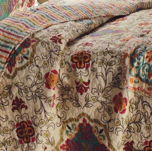 Esprit Spice Quilt Set 3 piece King Beautiful Floral Daisy Chain Desig – Sweet Us