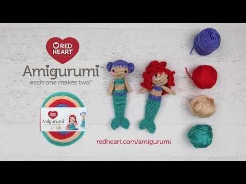 New Red Heart Amigurumi yarn - YouTube | 360x480
