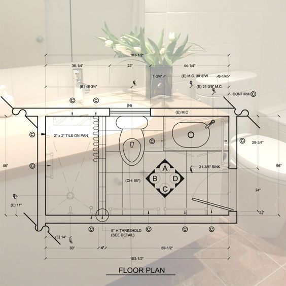Collections Of Bathroom Design Drawings Free Home Designs