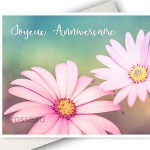 Carte Anniversaire Fleurs Carte Double Joyeux Anniversaire Photo