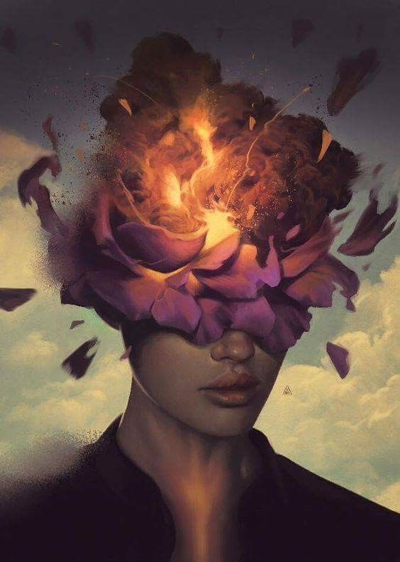 """""""Growth is uncomfortable  Because you have never been here before You've never been this version of you. So give yourself a little grace And breathe through it...."""" -Kristin Lohr  Art by Aykut Aydogdu"""