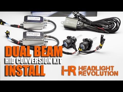 How To Install A Dual Beam Hid Headlights Bi Xenon Hid Conversion Kit Relay Harness Youtube Installation Relay Hid Headlights