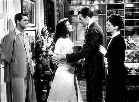 "Katharine Hepburn, James Stewart, Cary Grant in ""The Philadelphia Story"" 1940 MGM"