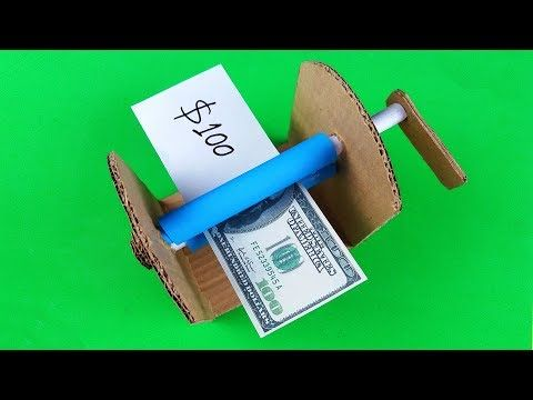 How To Make Money Printer With Cardboard
