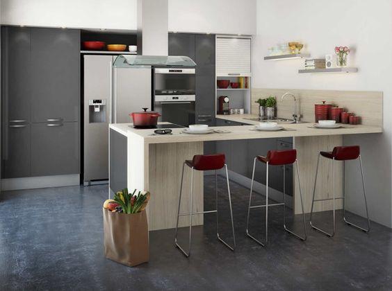 Cuisine and simple on pinterest for Regle amenagement cuisine