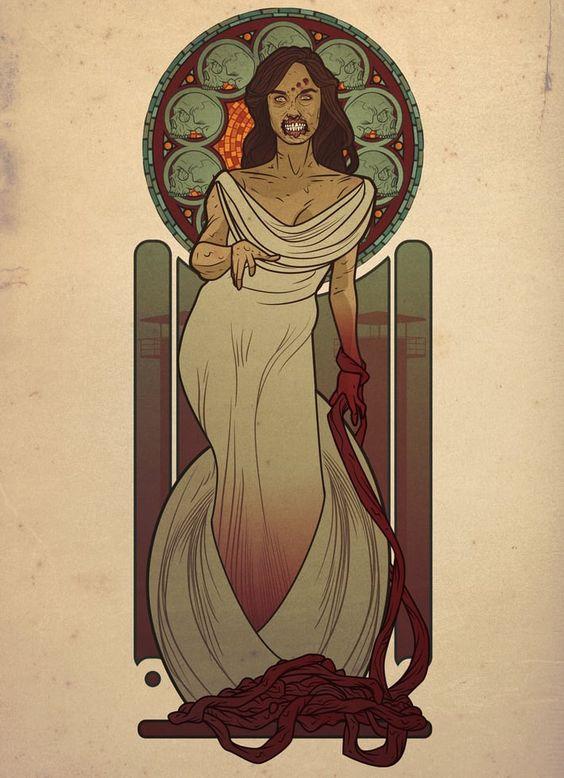 Ladies of 'The Walking Dead' Go Art Nouveau in Fan Art (Part 1) — moviepilot.com