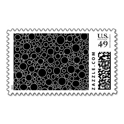 Bubbles Black Postage Stamps
