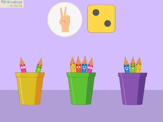 Tantos lápices como dedos o dado