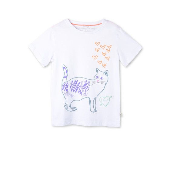 Shop the White Arlow Cat Print T Shirt by Stella Mccartney Kids at the official online store. Discover all product information.