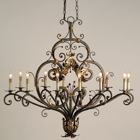 Currey and Company 9372 Dominion Twelve Light Oval Chandelier