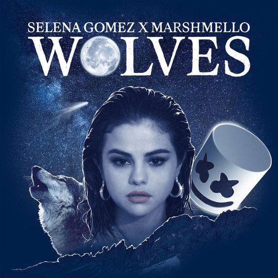 Selena Gomez, Marshmello – Wolves (single cover art)